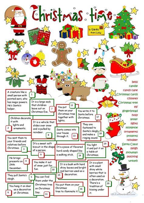 Christmas Time Worksheet  Free Esl Printable Worksheets