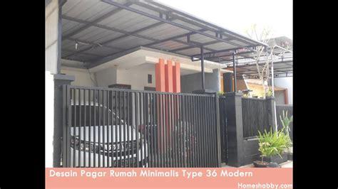 desain pagar rumah minimalis type  tampil lebih elegan