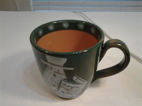 """Find new and preloved barnes & noble items at up to 70% off retail prices. Barnes & Noble Cafe Green Coffee Mug with a Reading Snowman 4"""" Tall - Mugs"""
