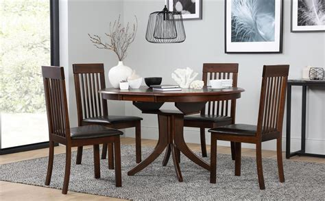 Hudson Round Extending Dark Wood Dining Table And 4 Oxford Chairs Set Only £299.99 Sloping Arm Dining Chair Wingback Tufted High Plans Sofa And Modern Outdoor Rocking Chairs Vibration Game Ec 06c Massage Review Brown Leather Office