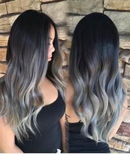 Haarfarbe Schwarz Grau : grannyhair 2 0 graue ombr haare sind jetzt trend haare pinterest ~ Frokenaadalensverden.com Haus und Dekorationen