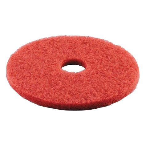 premiere pads 16 in dia standard buffing red floor pad
