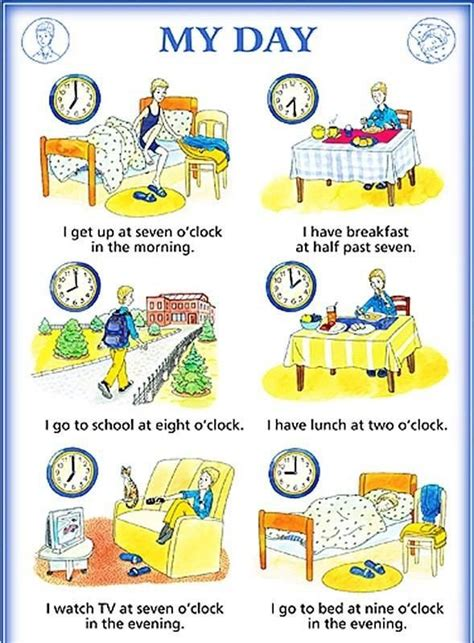 besten vocabulary  day daily activities