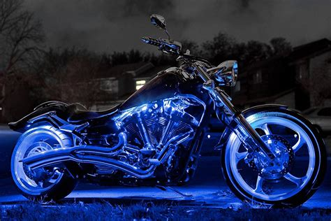 Blue Single Color Motorcycle