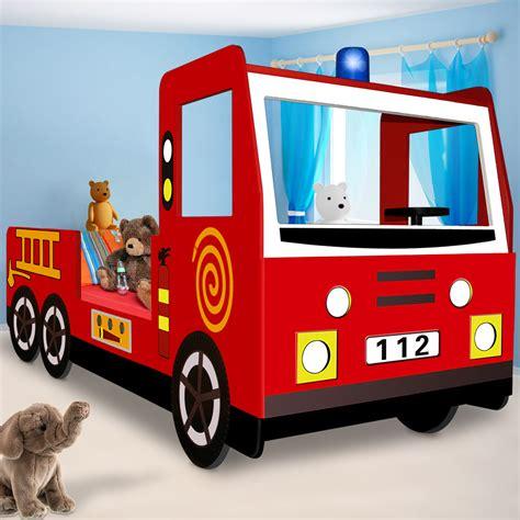 Autobett Feuerwehr Kinderbett Spielbett Bett Feuerwehrauto