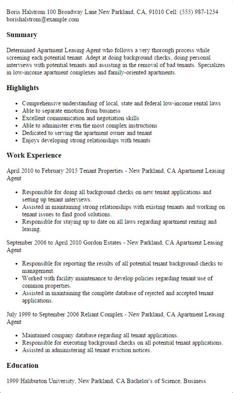 Leasing Resume Templates real estate resume templates to impress any employer