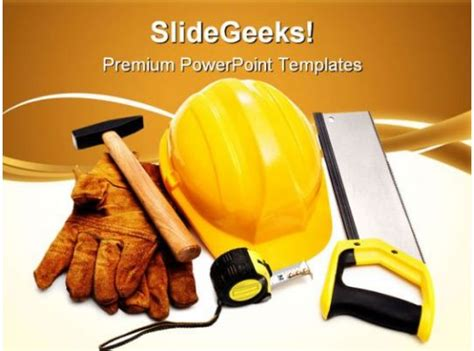 protection equipment construction powerpoint templates