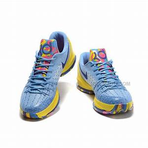KD8 Kevin Durant 8 KD 8 VIII Shoes Lightblue Yellow Purple ...