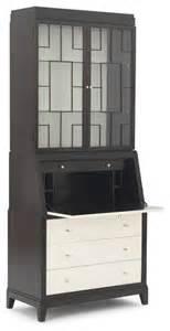 huxley secretary desk with hutch modern charlotte by