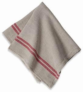 Linen Napkins, Red Stripe, Set of 4 - Traditional