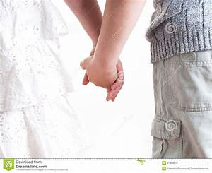 Teenage Boy And Girl Holding Hands. Royalty Free Stock ...