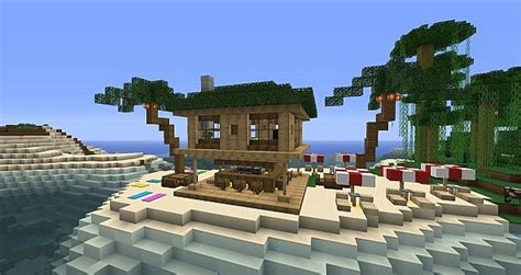 Tiki Hut Minecraft - hut bar minecraft project