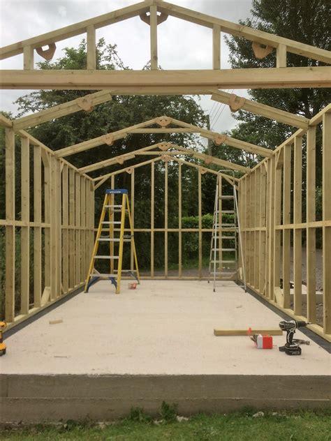 timber garage  wooden workshop oakford devon