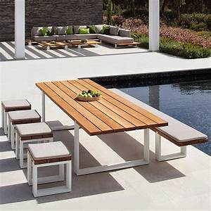 Table Jardin Design : modern garden table and bench royal botania vigor furniture ~ Melissatoandfro.com Idées de Décoration