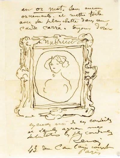 Renoir Pierre Auguste 1841 1919 Two Autograph Letters