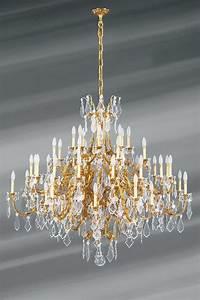 Grand Lustre Design : tr s grand lustre dor louis xv cristal de boh me bronze ~ Melissatoandfro.com Idées de Décoration