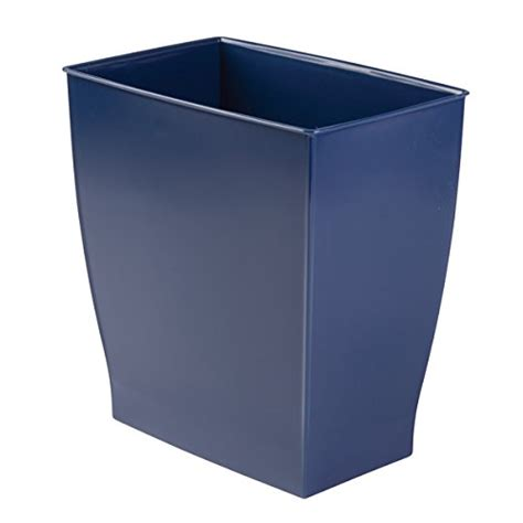 small rectangular bathroom trash can mdesign rectangular wastebasket trash can for bathroom