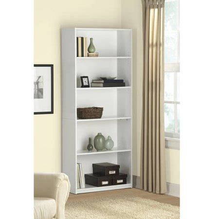 walmart black bookshelf mainstays 5 shelf wood bookcase colors walmart