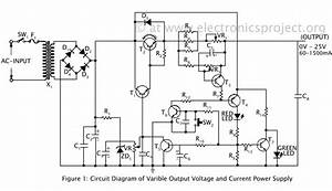 Power Supply  Variable Power Supply Circuit Diagram