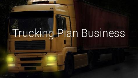 trucking plan business template   word excel