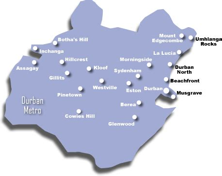 Durban Metro Map - TravelQuaz.Com