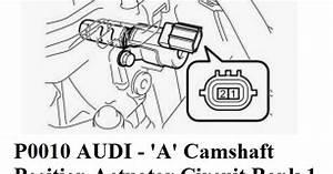 P0010 Audi -  U0026 39 A U0026 39  Camshaft Position Actuator Circuit Bank 1