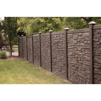 simtek  ft    ft  ecostone dark brown composite fence panel fpxdbr  home depot