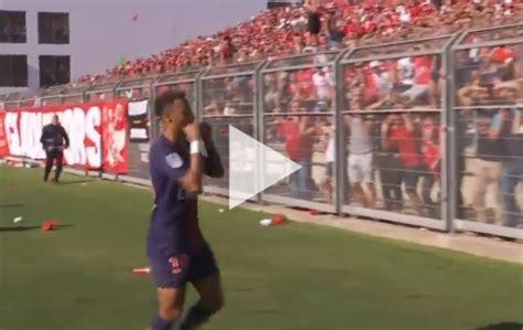 neymar goal celebration  psg  nimes video