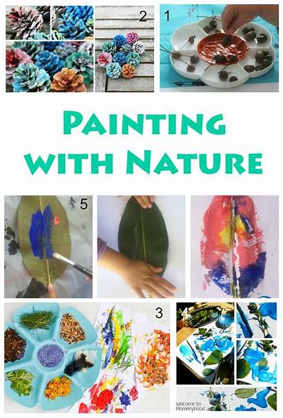 Nature Painting Projects Crafts Craft Activities Natural