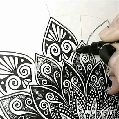 Zentangle Mandala Drawing Doodle Pattern Patterns Animals