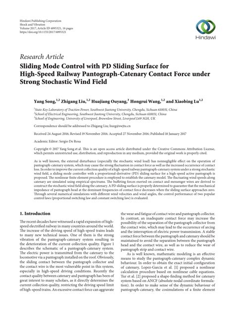 Pdf Sliding Mode Control With Surface For