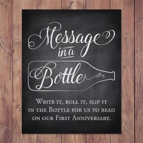 rustic wedding guest book sign message   bottle