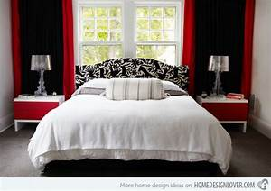 Black white and red bedroom decorating ideas home delightful for Black and red bedroom ideas