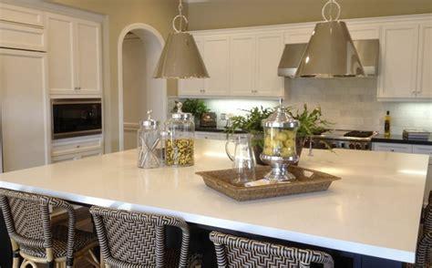 arctic white quartz countertops traditional kitchen orange county  msi