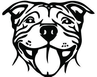 pit clipart black and white pitbull svg etsy