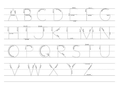 large alphabet letters  tracing