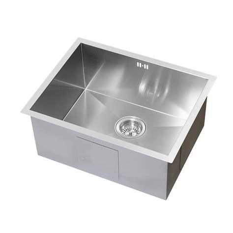 stainless steel single basin kitchen sink enki single 1 5 bowl reversible stainless steel 9416