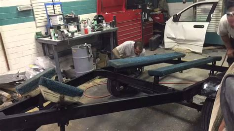 Boat Trailer Youtube by Painting The Boat Trailer Youtube