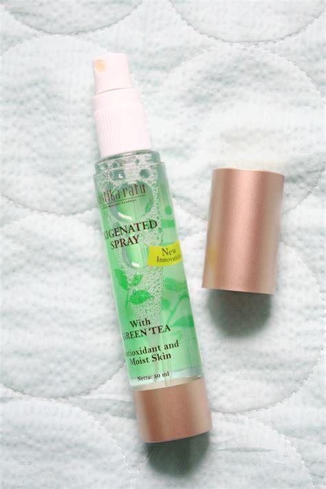 review mustika ratu oxigenated spray with green tea