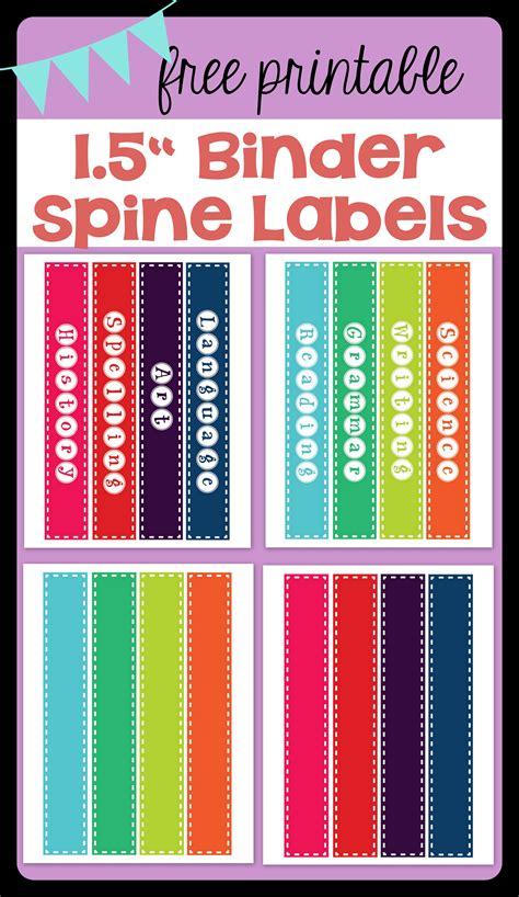 binder label freebie binder spine labels vanilla