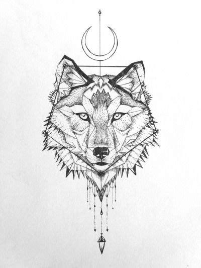 geometric wolf tattoo   Tumblr   Geometric wolf tattoo