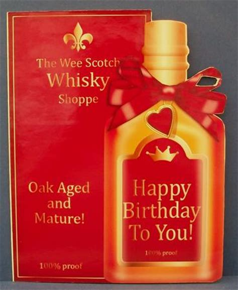 birthday whisky bottle shaped card cup