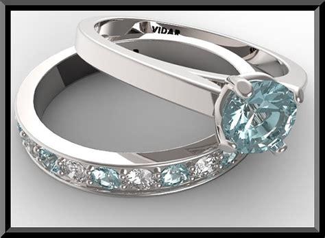 diamond and aquamarine wedding ring half eternity ebay