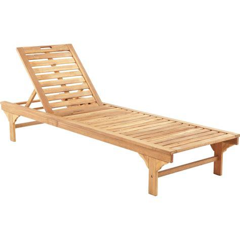 plan de chaise longue en bois bain de soleil de jardin en bois porto brun leroy merlin