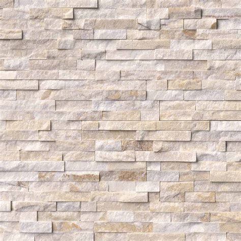 stacked marble tile arctic golden ledger panel 6 in x 24 in natural