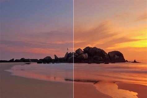 easily enhance  sunset photo  photoshop medialoot