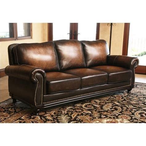 abbyson living leather sofa abbyson living barclay leather sofa in espresso ci n180