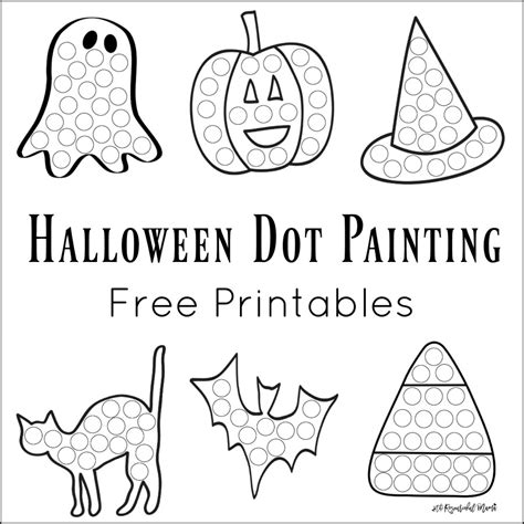 dot painting free printables the resourceful 590 | halloween dot painting featured 900 border