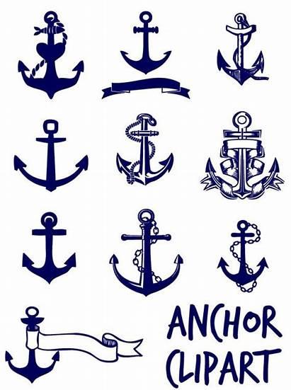 Navy Anchor Clip Anker Clipart Nautical Blau