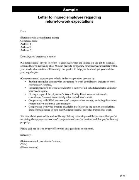 medical return  work note return